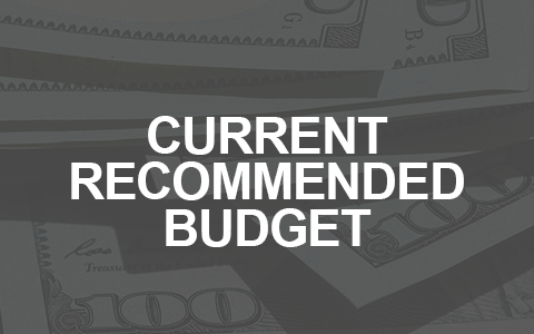 Current recommended budget