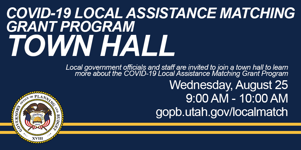 COVID-19 Local Assistance Matching Grant Program Town hall
