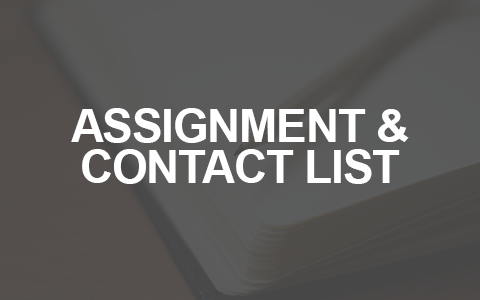Assignment and contact list